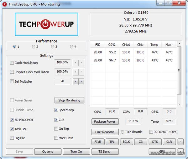 ThrottleStop软件截图