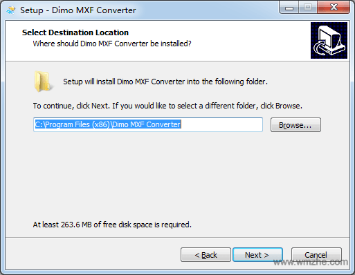 Dimo MXF Converter軟件截圖