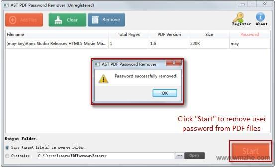 Jihosoft pdf Password Remover软件截图