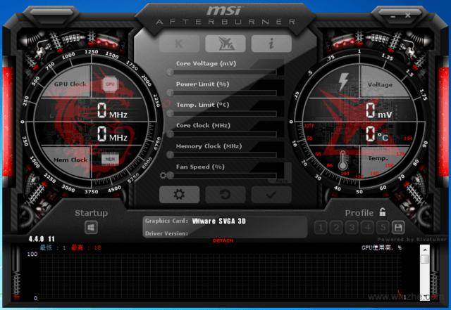 MSI Afterburner软件截图