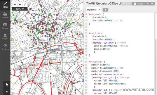 TileMill软件截图