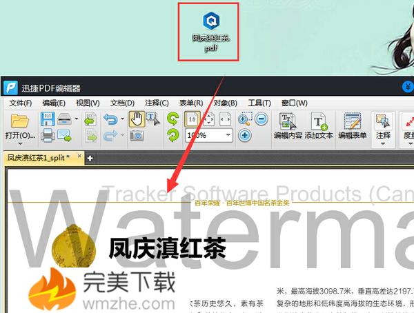 迅捷PDF编辑器去除PDF文档水印的方法介绍
