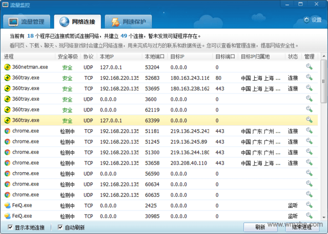 360网络流量监控工具软件截图