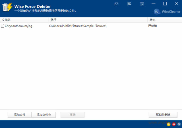 Wise Force Deleter软件截图