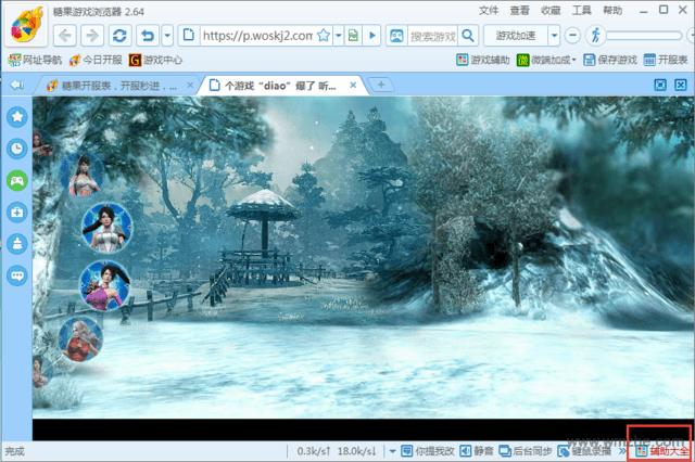 糖果游戏浏览器软件截图