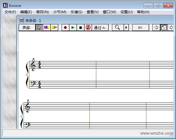 Encore乐谱编辑软件截图
