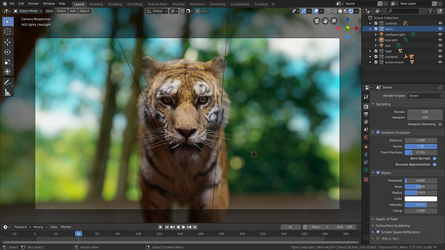 Blender软件截图