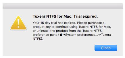 Tuxera NTFS for Mac软件试用期结束还能用吗?必须付费激活