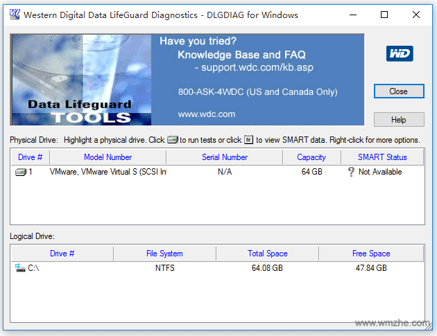 Western Digital Data LifeGuard Diagnostics软件截图