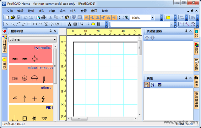 ProfiCAD电气制图软件截图