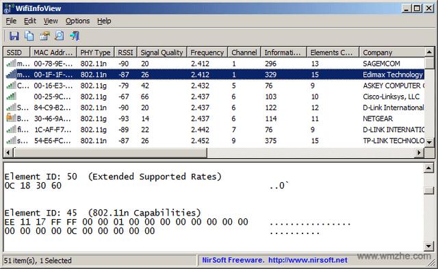 WifiInfoView软件截图