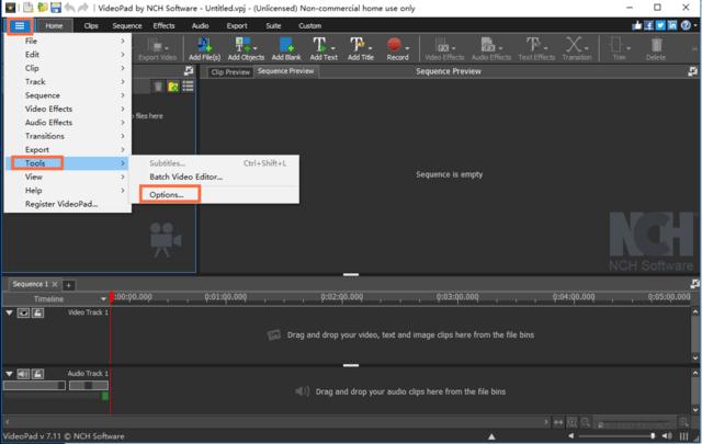 视频编辑工具 VideoPad Video Editor软件截图