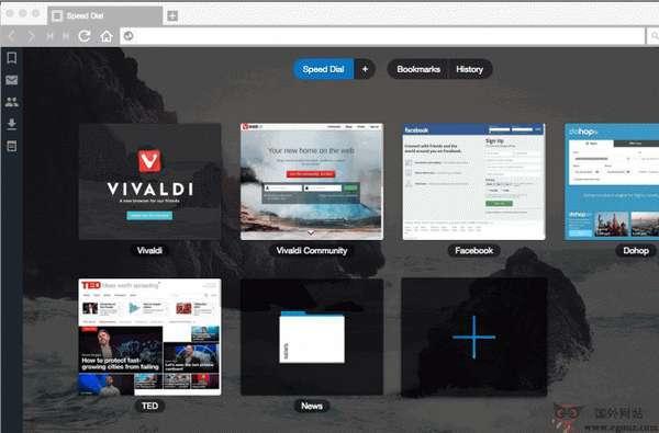 Vivaldi瀏覽器軟件截圖