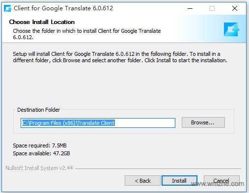 Google Translate软件截图