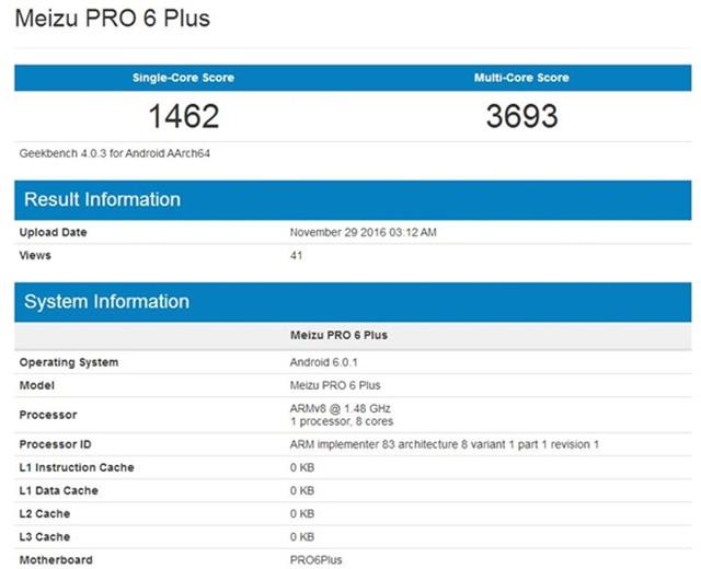 魅族新机Pro6Plus现身 配三星Exynos8890?