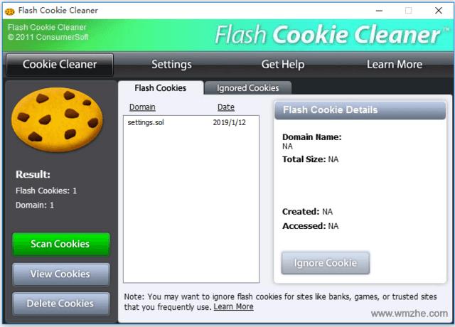 Flash Cookie清理工具(Flash Cookie Cleaner)软件截图