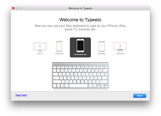 可以将Mac电脑变成蓝牙键盘给平板手机使用的神器—Typeeto 虚拟蓝牙键盘软件