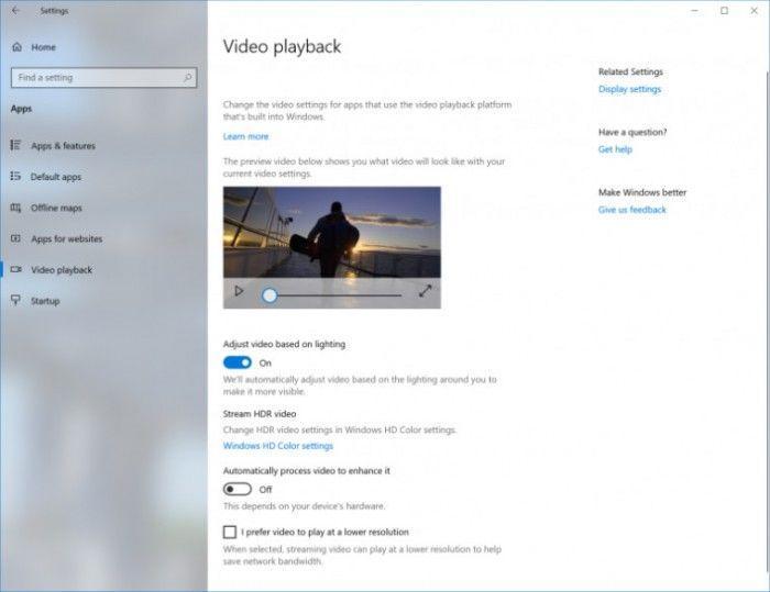 Windows10 RS5迎来新功能,根据环境自动调节亮度