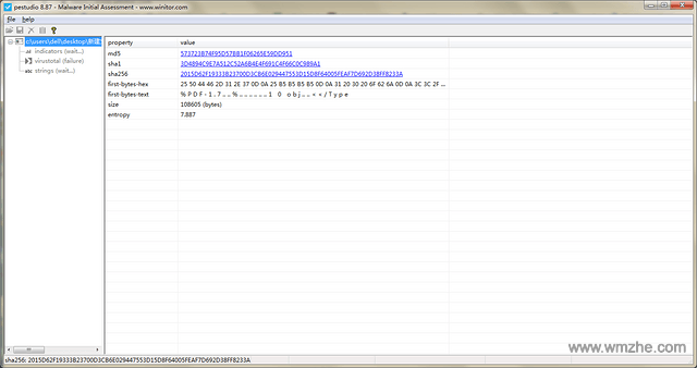 PeStudio软件截图