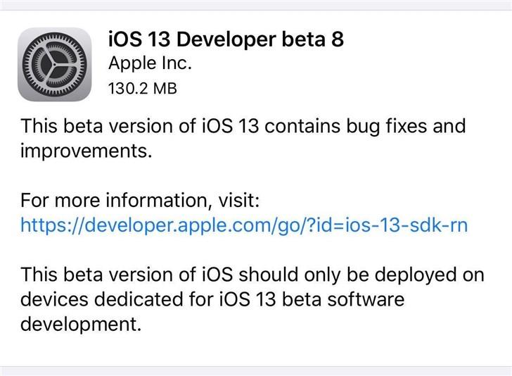 iOS 13 Beta 8已经发布,依然存在很多bug