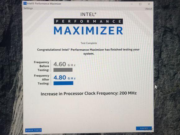 Intel一键超频软件截图