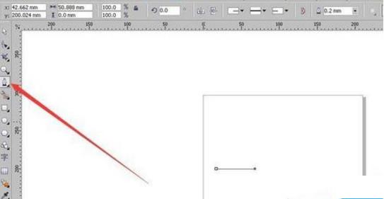 Coreldraw的基本功能使用:自由绘制直线