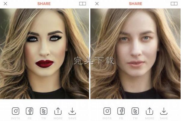 修图界的泥石流——MakeApp,让你的女神现出原形