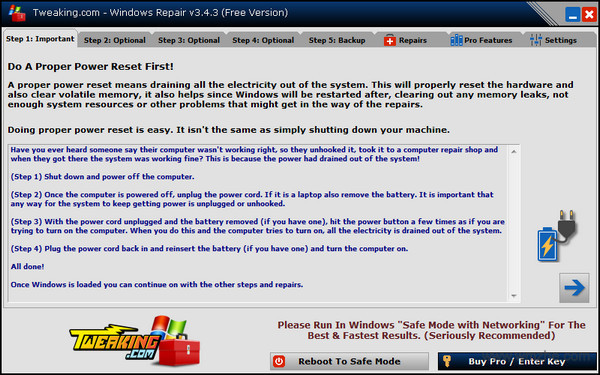 Windows Repair软件截图