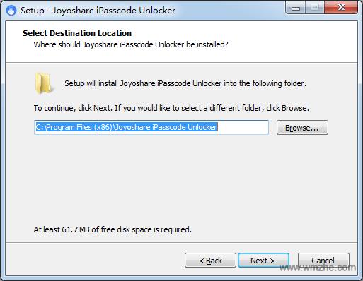Joyoshare iPasscode Unlocker软件截图
