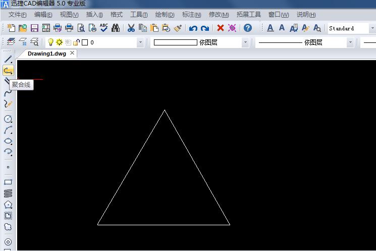 迅捷CAD编辑器基础教学:给三角形画一个外接圆