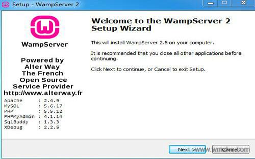 WampServer软件截图