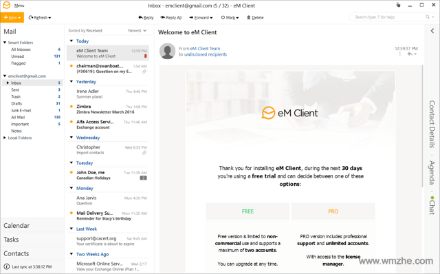 eM Client软件截图