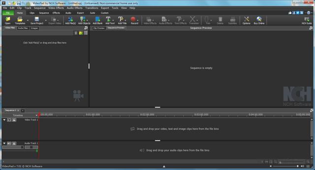 VideoPad Video Editor软件截图