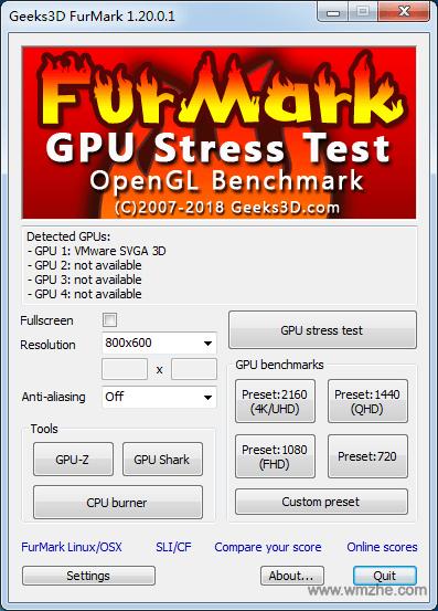 FurMark 显卡测试工具软件截图