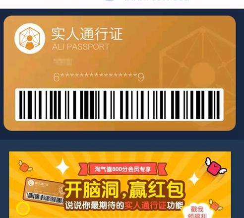 淘宝推出实人通行证功能:您个人的网络通行证