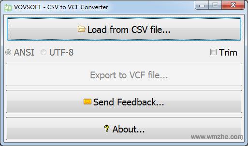 CSV to VCF Converter软件截图