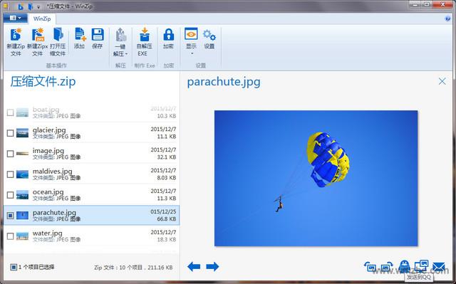 WinZip中文版(32位)軟件截圖