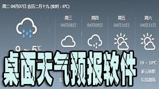 桌面天气预报软件