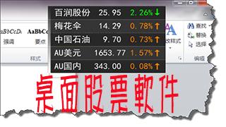 桌面股票軟件