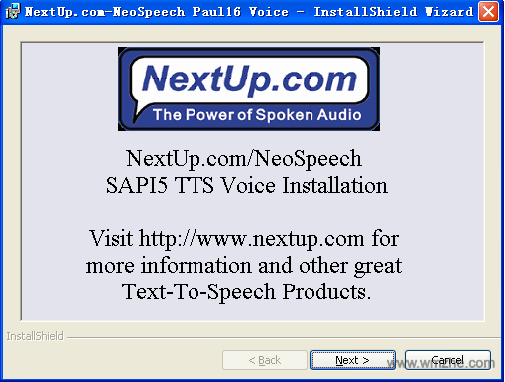 neospeech语音库软件截图