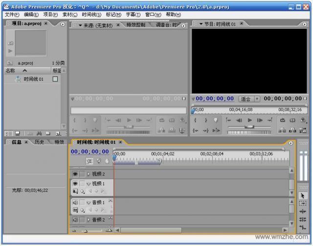 Adobe Premiere Pro CS3软件截图
