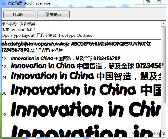 微软雅黑粗体软件截图
