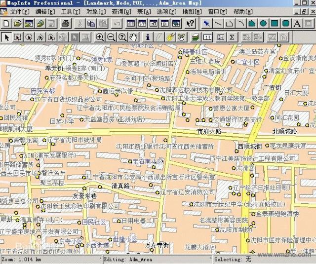 Mapinfo professional軟件截圖