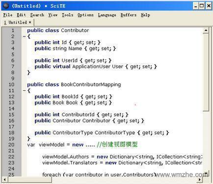 SciTE 文本语言编辑器软件截图