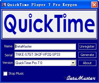 quicktime注册机软件截图