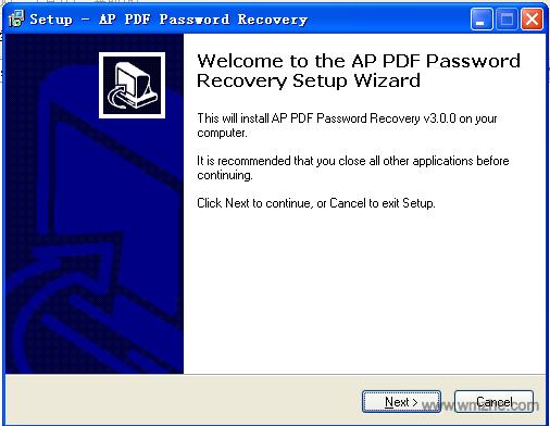 Ap pdf password recovery软件截图