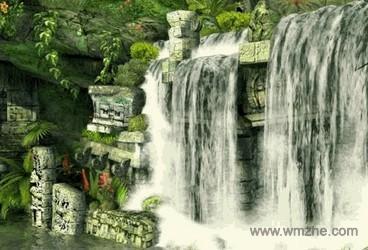 国外超炫Mayan瀑布3D屏保软件截图