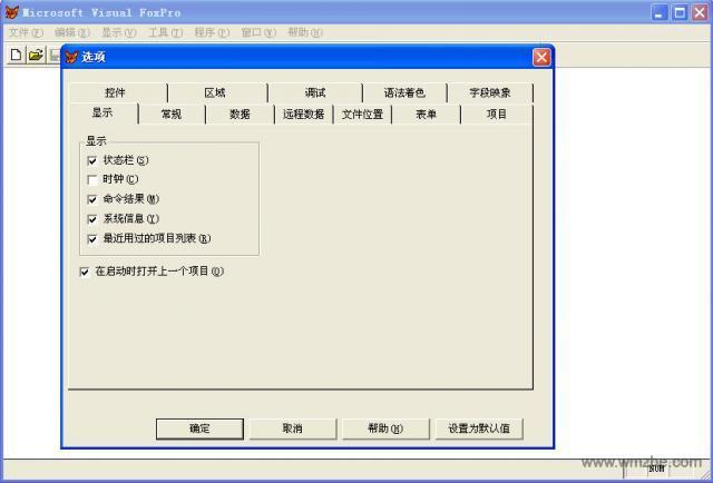 Visual Foxpro软件截图