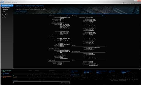 Intel Extreme Tuning Utility软件截图