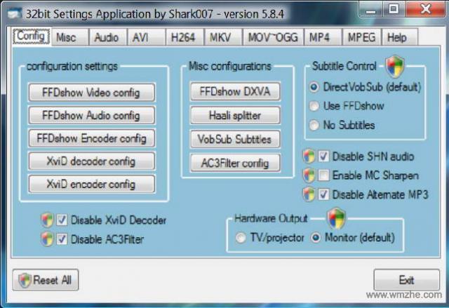 Advanced Vista Codec Package软件截图